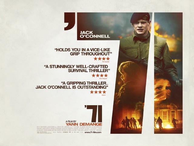 UK Quad For Tense Survival Thriller '71 Starring Jack O'Connell