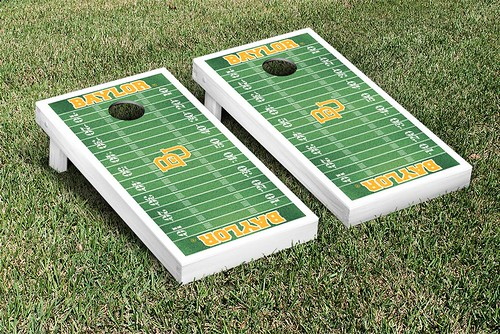 Baylor University Bears Cornhole Game Set Football Field Version