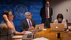 Acting Assistant Secretary Dean Pittman responds to your questions on U.S. priorities at the 69th United Nations General Assembly during a Facebook Q&A at the U.S. Department of State in Washington, D.C., on September 17, 2014. [State Department photo/ Public Domain]