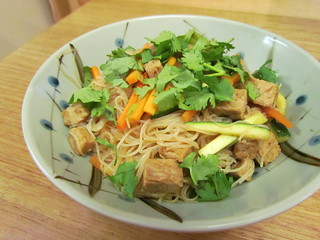 Tempeh and Cellophane Noodles with Lemongrass and Cilantro