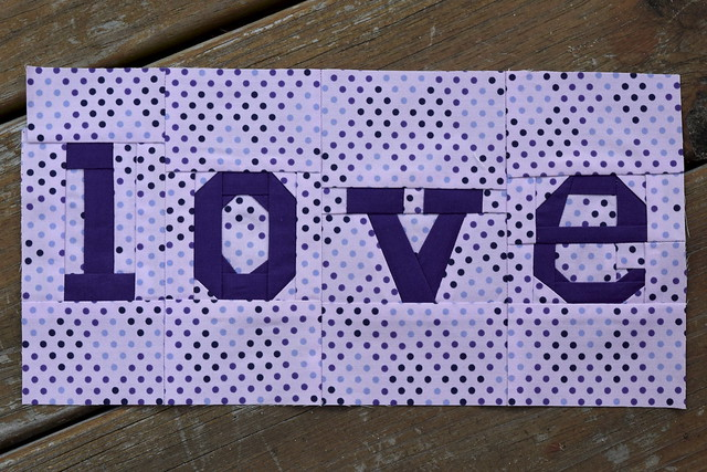 Paper pieced love