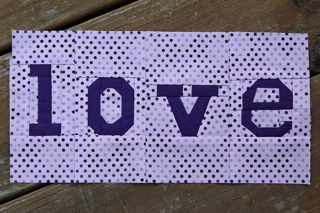 Paper pieced love