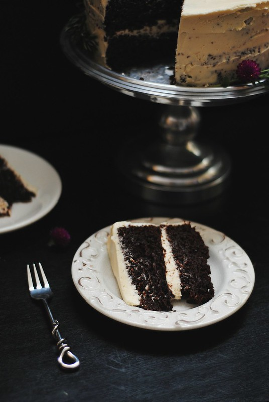 Chocolate Tahini Cake + Rosemary infused buttercream