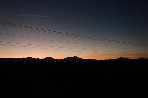 sunset sky mountains oregon unitedstates bend sihilouette