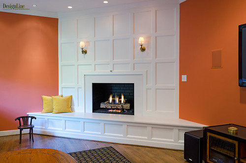 DesignLine Home Transformation - Living room fireplace