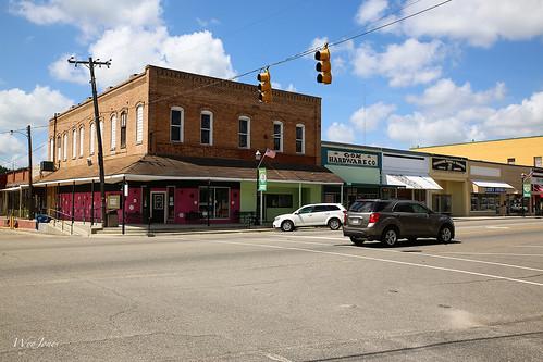 street cars architecture buildings store mainstreet alabama np sidewalks florala ldowntown wyojones