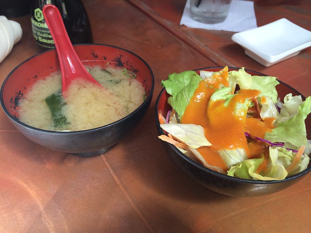 House salad and miso soup - Asia Nine