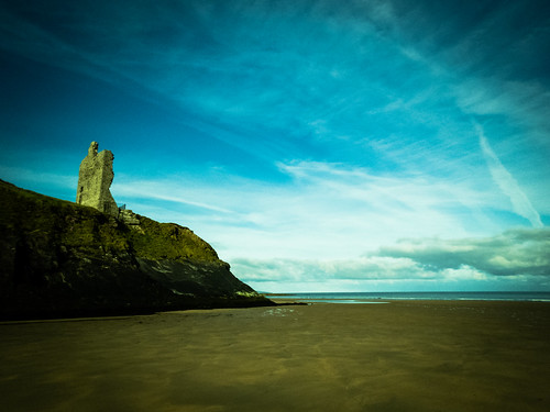 ireland summer seascape castle beach june sunrise walking landscape kerry ballybunion 2015 landscapephotography irishlandscape irishseascape lightandclouds ballybunioncastle