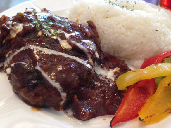 Double Decker: Hamburger Steak Lunch - Okinawa, Japan