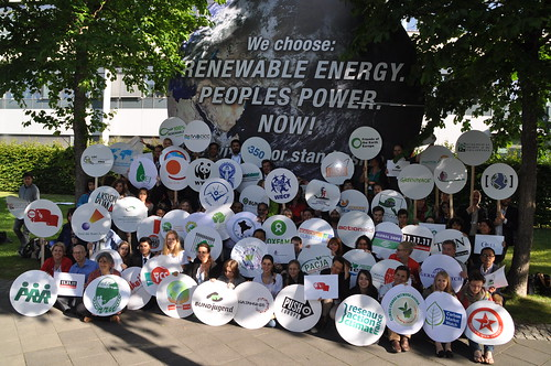 Civil society calls for greater investment in renewable energy, at UN Climate Talks, Bonn, June 2014