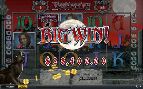 free Full Moon Fortunes bonus game