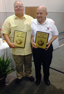 Picture of John Gavin and Buddy McCaskill holding their awards.