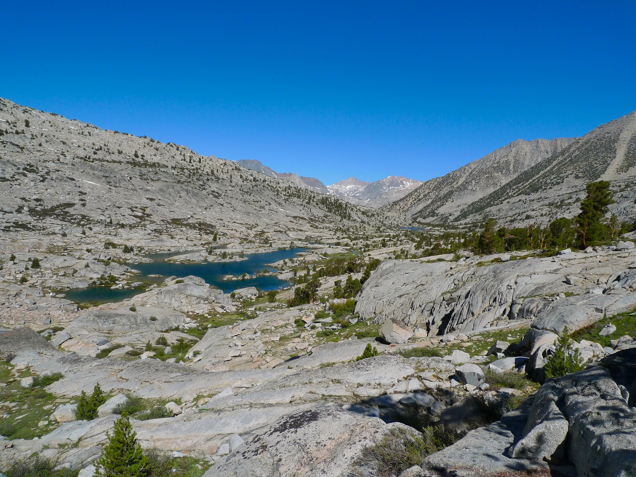 Lower Dusy Basin in the morning