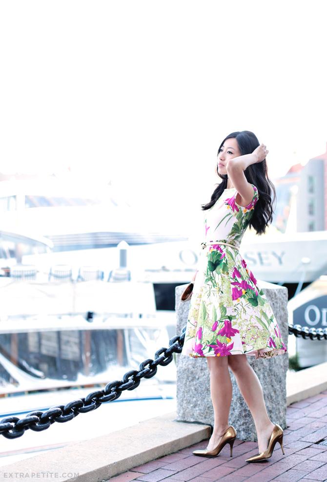 ted baker floral dress3