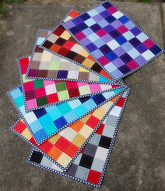 American Made Brand Fabrics Patchwork Placemats