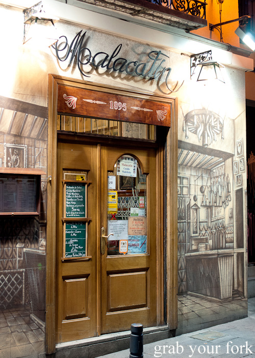 Malacatin restaurant in Madrid, Spain famous for cocido Madrileno or chickpea stew