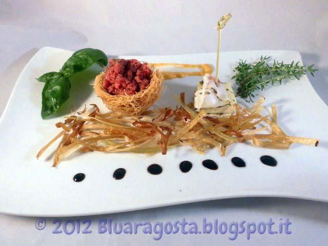 08-tartare con tartufi e taleggio marinato