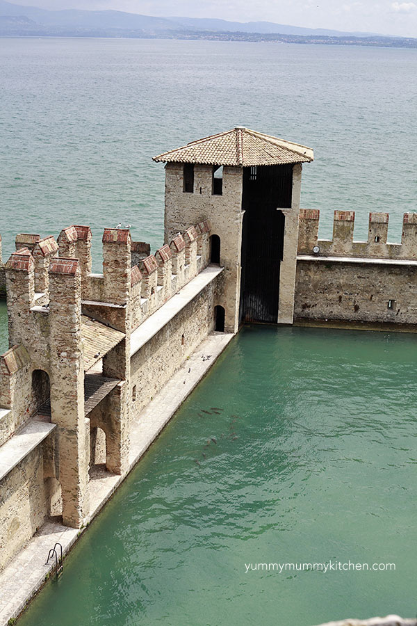 Sirmione Castle on Lake Garda Italy