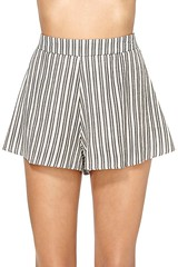 nastygal pinstripe shorts