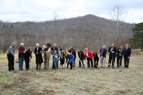 RHS Administrator Hernandez joins with community leaders and new homeowners to break ground for 13 more energy-efficient homes in this housing subdivision located in Whitley County.