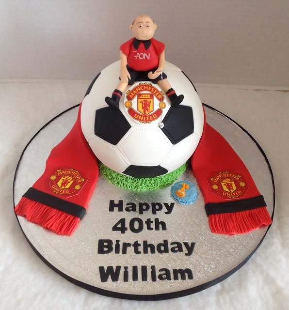 40th Birthday Cake Images Male : Man U Football 40th Birthday Cake Flickr - Photo Sharing!