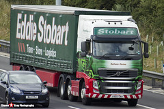 Volvo FH 6x2 Tractor with 3 Axle Curtainside Trailer - PX60 CNO - H4554 - Bethany Denise - Eddie Stobart - M1 J10 Luton - Steven Gray - IMG_6767