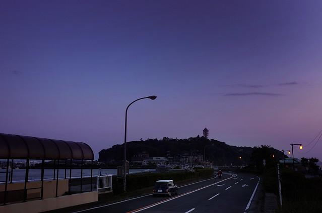 江ノ島へ.