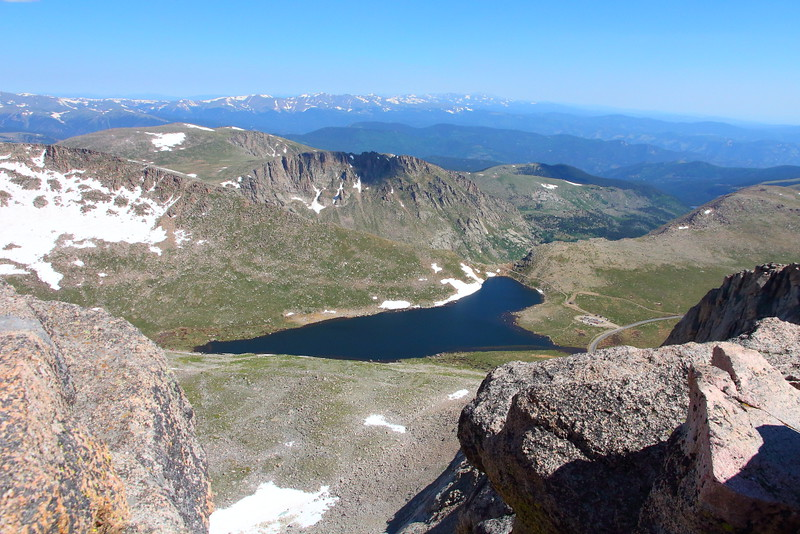 IMG_4748 Summit Lake from the Summit of Mount Evans