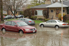 Flooding in Albany Park (Chicago), April 18, 2013