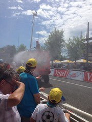 Vittel using their water cannon...