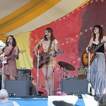 Norah Jones, Sasha Dobson and Cat Popper on the main stage Sunday. 6/22/14 Photo by Gus Philippas