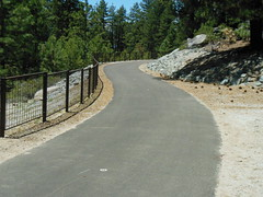 Starting right next to Lakeside Inn is a very scenic and easy to ride bike path that meanders through the forest and goes to both Nevada Beach and Round Hill Pines Beach!