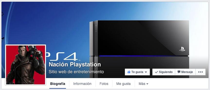 Nación PlayStation en Facebook