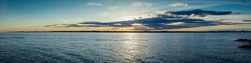 ocean sunset sky beach connecticut pano panoramic 2870mm