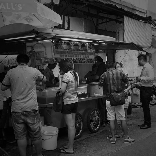 Teochew cendul stall outside the shop. George Town, Penang.