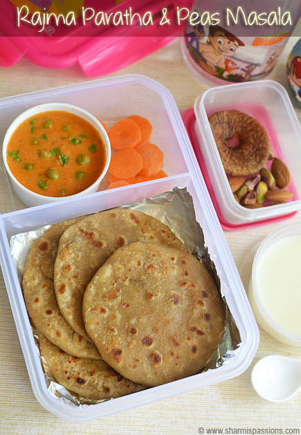 Rajma Paratha, Green Peas Masala
