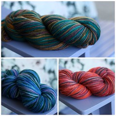 hand dyed sock yarns