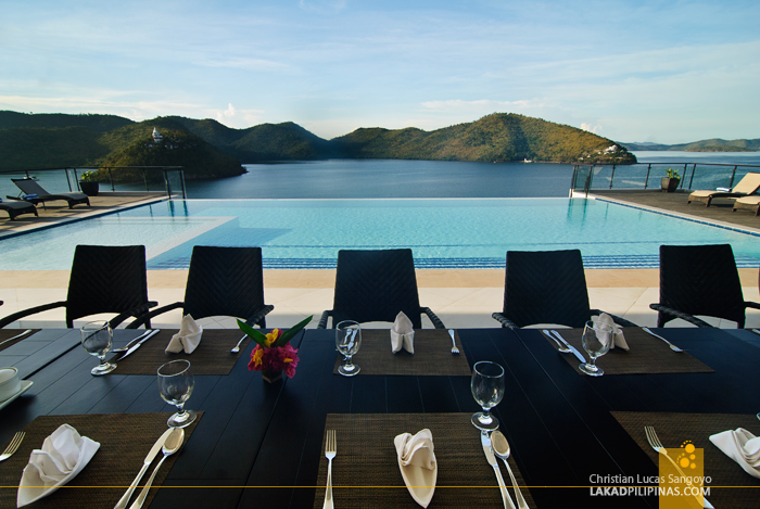 The Dining Hall at Busuanga Bay Lodge in Palawan