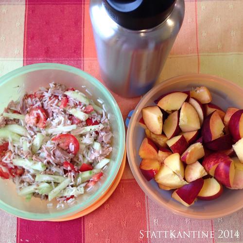 StattKantine 29.07.14 - Reissalat, Obst, Apfelsaftschorle