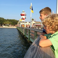 Harbor town with the family. #hiltonheadisland