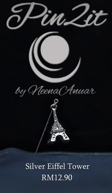 Silver Eiffel Tower