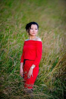 A Woman in Red, Vancouver, 2014