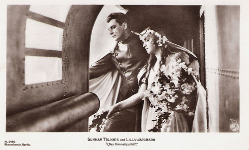 Gunnar Tolnaes and Lilly Jacobson in Himmelskibet/Das Himmelschiff