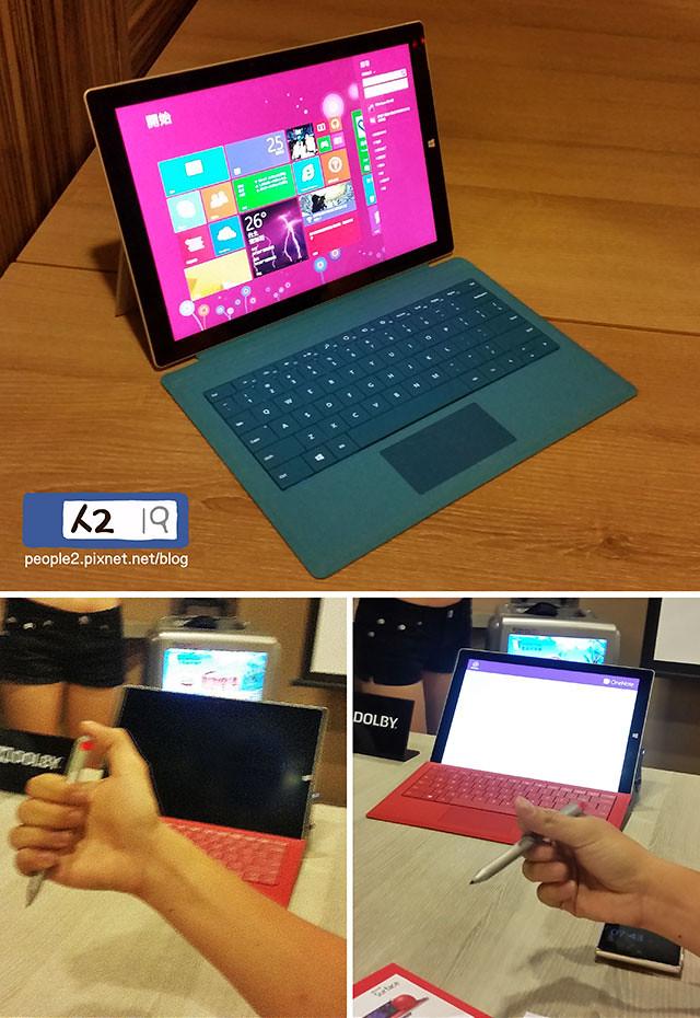 Surface Pro3微軟平板instagram筆電3C輕薄OneNote杜比音效256階people2planet手寫筆人2人2的插画星球People2