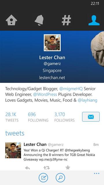 Nokia Lumia 930 - Twitter