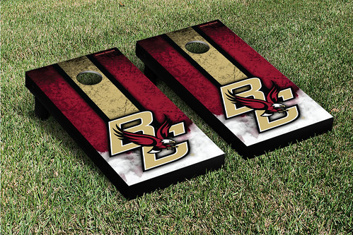 Boston College Eagles Cornhole Game Set Grunge