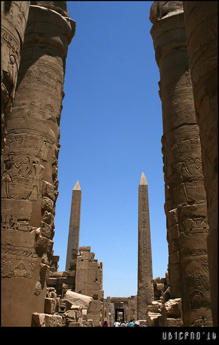 Leaving the hypostyle hall