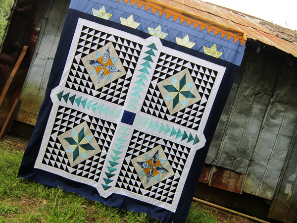 Tangential, a cumulative queen-sized quilt