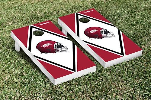 Arkansas Razorbacks Cornhole Game Set Banner Diamond Version