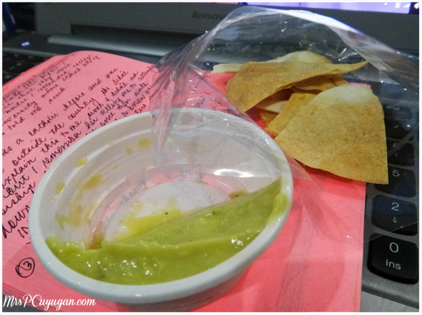 PM Snack: Pita Chips and Guacamole and Hummus Dip